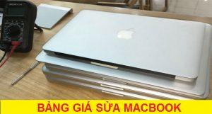 Bảng giá sửa chữa Macbook tại Bình Dương CHÍNH XÁC